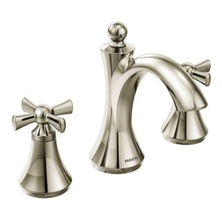 Moen Polished Nickel Two-Handle High Arc Bathroom Faucet Polished Nickel T4524NL