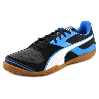 Puma Men's 'Invicto Sala' Black Leather Athletic Shoes