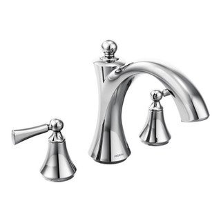 Moen Wynford Two-Handle Roman Tub Faucet, Chrome (T653)