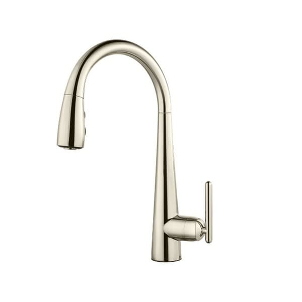 Pfister Lita Pull Down Kitchen Faucet Polished Nickel Gt529smd