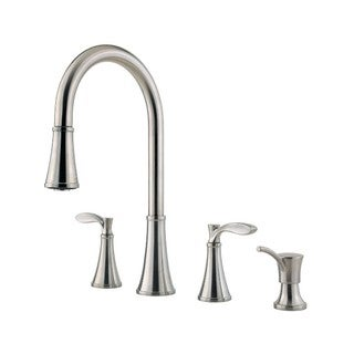 Pfister Petaluma Widespread Kitchen Faucet F-531-4PAS Stainless Steel