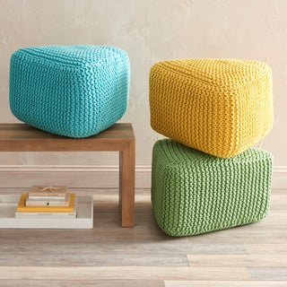 VCNY Majestic Knitted Triangle Floor Pouf
