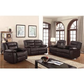Gloria Faux-Leather 3-piece Living Room Sofa set