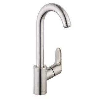 Hansgrohe Focus Deck Mount Bar Faucet 04507801 Steel Optik