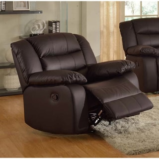 Gloria Faux-Leather Living Room Swivel Rocking Reclining Chair