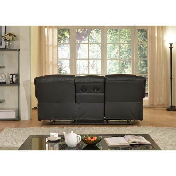 Gloria Faux Leather Living Room Reclining Sofa With