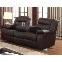 Shop Madison Bonded Leather Modern Reclining Sofa With