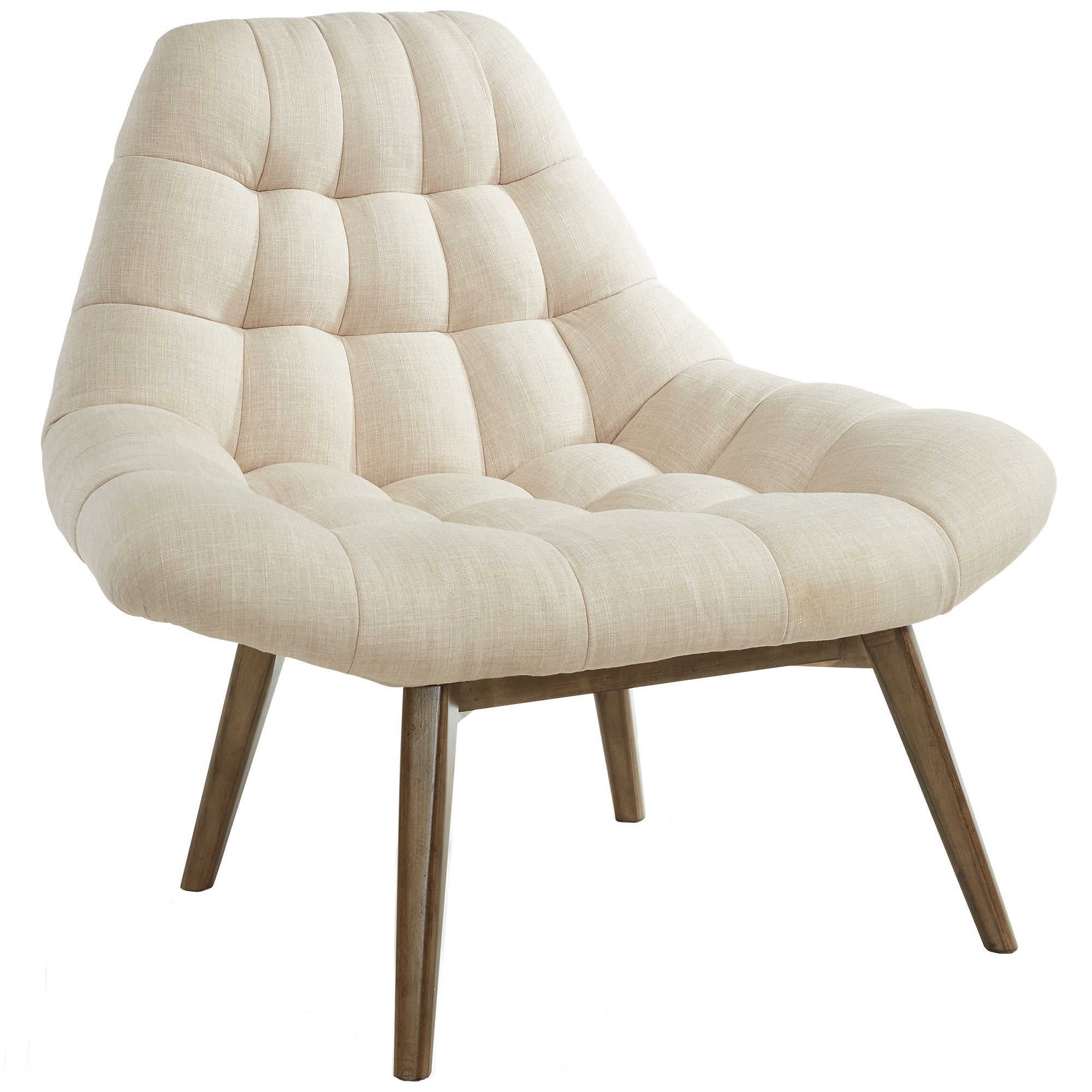 Phenomenal Oasis Oversize Waffle Tufted Fabric Accent Chair Inzonedesignstudio Interior Chair Design Inzonedesignstudiocom