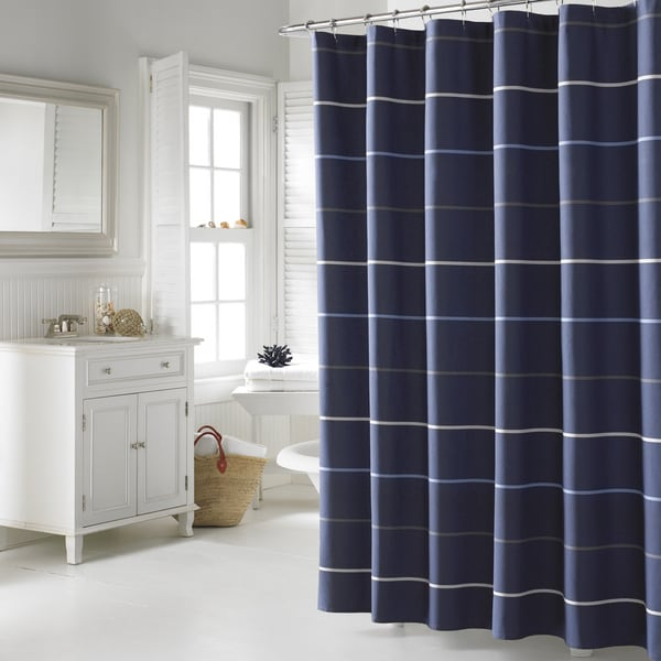 Nautica Southport Cotton Shower Curtain