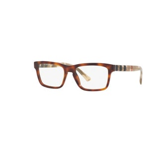 Burberry BE2226 3601 Light Havana Plastic Square Full rim Eyeglasses with 55mm Lens