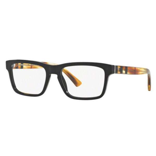 4856bbe503b8 Shop Burberry BE2226 3604 Black Plastic Square Eyeglasses with 55mm ...