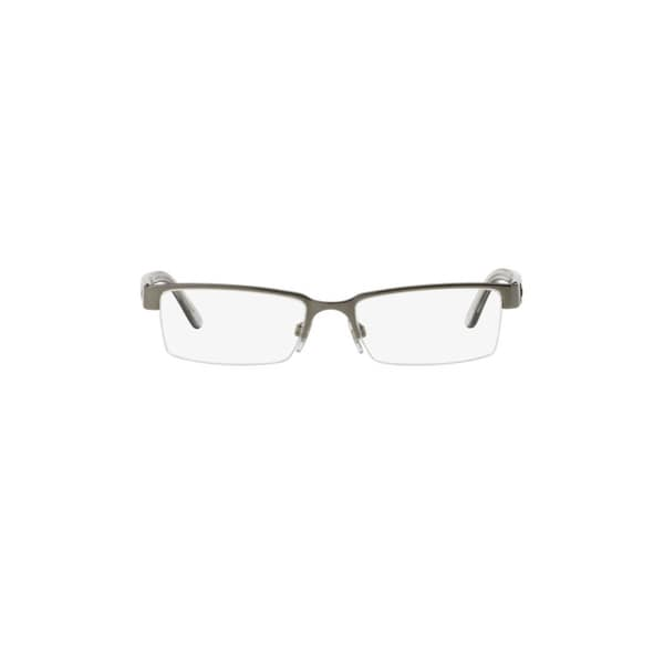 2e915ce3f449 Burberry BE1156 1003 Gunmetal Metal Rectangle Eyeglasses with 52mm Lens
