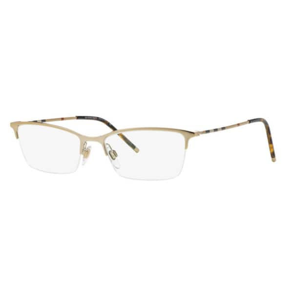 32b2effa0d77 Shop Burberry BE1278 1145 Light Gold Cat Eye Eyeglasses w/ 53mm Lens ...