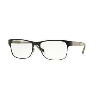 Burberry BE1289 1007 Matte Black Square Full rim Eyeglasses with 55mm Lens