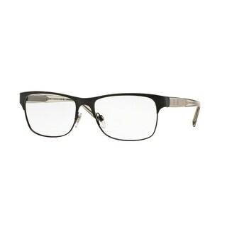 Burberry BE1289 1007 Matte Black Square Full rim Eyeglasses with 55mm Lens
