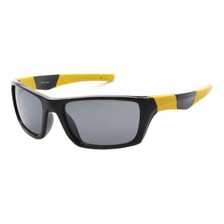Epic Eyewear Men's Outdoors Sports Full Square-framed UV400 Sunglasses
