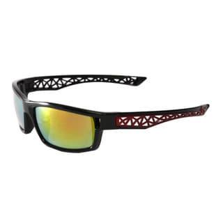 Epic Eyewear Men's Multicolored Plastic UV400 Outdoors Sports Full Square Framed Sunglasses