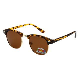 Epic Eyewear UV400 Black/Gold Plastic Polarized Designer Dapper Sunglasses