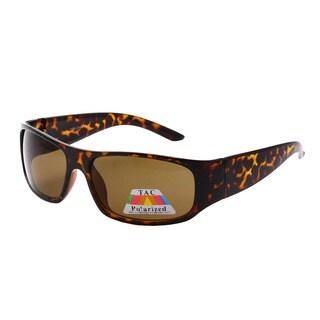 Epic Men's Polarized Square-frame Sporty Sunglasses