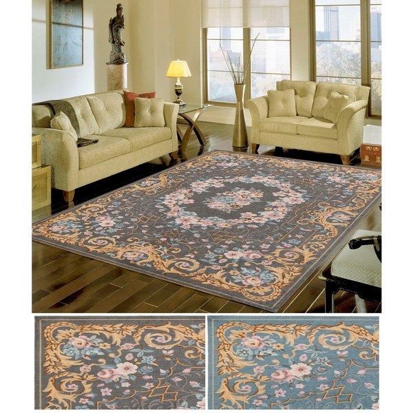 Meticulously Woven Men Polyester Rug (4' x 6') - multi