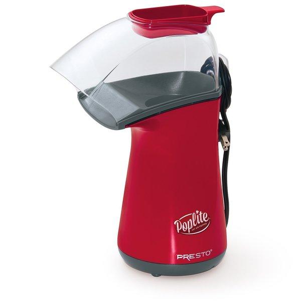 Presto PopLite Hot Air Popcorn Popper, Red