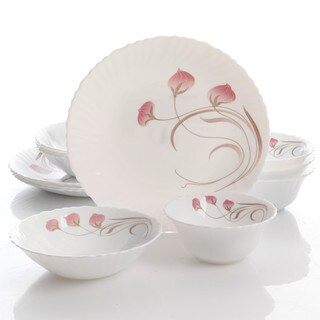 Oster Annis 12-pc. Double Bowl Dinnerware Set