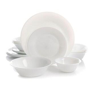 Oster Della 16pc Double Bowl Dinnerware Set