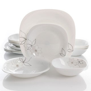 Oster Nia 16pc Double Bowl Dinnerware Set