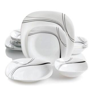 Oster Falan 16pc Double Bowl Dinnerware Set