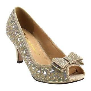 Chase & Chloe Women's Glitter Heels