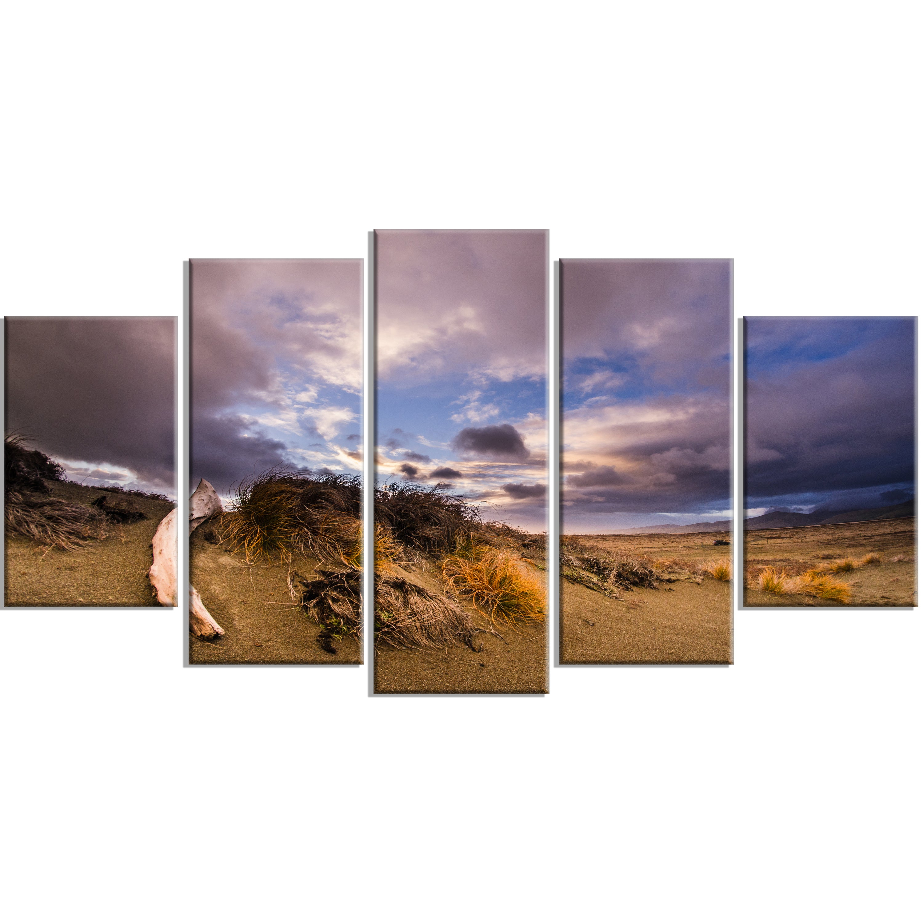 Old Wooden Trunk In The Sunset Modern Seascape Canvas Artwork Print On Sale Overstock 12316488