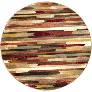Meticulously Woven Pin Rug (5'3 Round)
