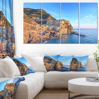 Manarola Village Cinque Terre Italy - Extra Large Seashore Canvas Art