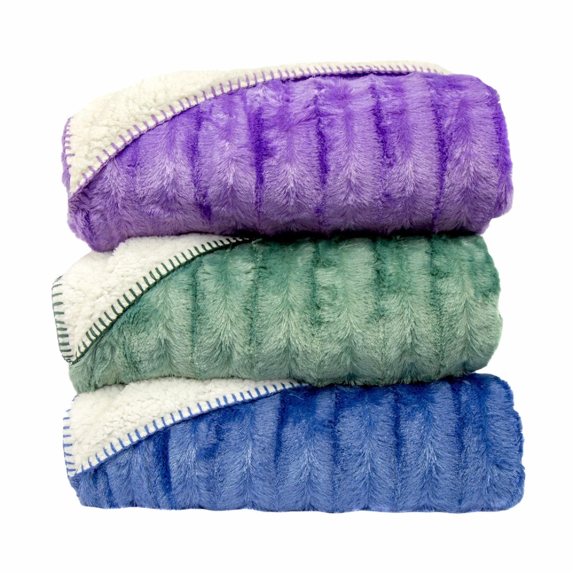 Oversized Super Soft Plush Fleece and Sherpa Throw Blanket