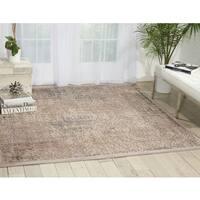 Nourison Graphic Illusions Grey Area Rug (6'7 Square) - 6'7 x 6'7