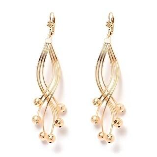 18k Goldplated Gold Ball Drop Earrings