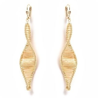 18k Gold-plated Gold-wired Drop Earrings