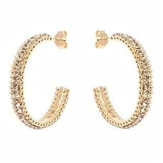 Goldplated Half-hoop Earrings