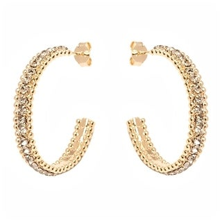 18k Goldplated Half-hoop Earrings