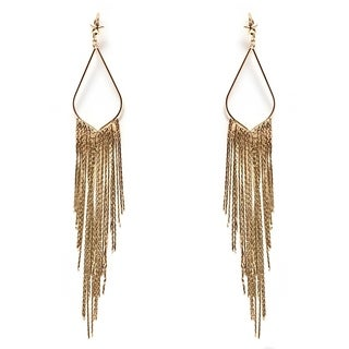 Gold-plated Teardrop Dangling Earrings