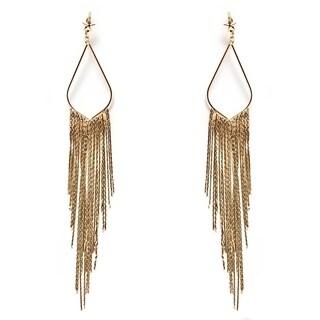 Gold-plated Teardrop Dangling Earrings
