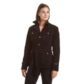 Excelled Women's Notch Collar Suede Jacket|https://ak1.ostkcdn.com/images/products/12317494/P19150800.jpg?impolicy=medium