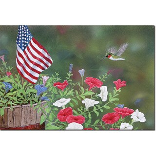 WGI Gallery 'Garden Glory Hummingbird' Wall Art Printed on Wood