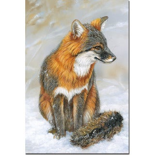 WGI Gallery Gray Fox Wall Art Printed on Wood