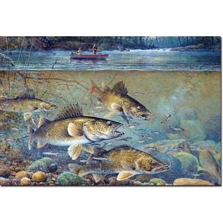 WGI Gallery 'Fisherman's Walleye' Printed Wooden Wall Art