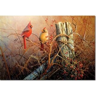 WGI Gallery Frankley Scarlet Multicolored Wood Wall Art