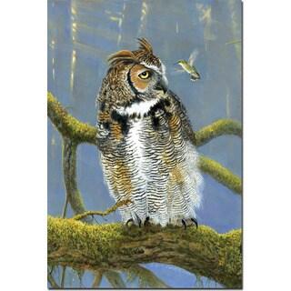 WGI Gallery 'Fearless Owl & Hummingbird' Wall Art Printed on Wood