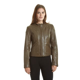 Excelled Women's Lambskin Moto Scuba Jacket (More options available)
