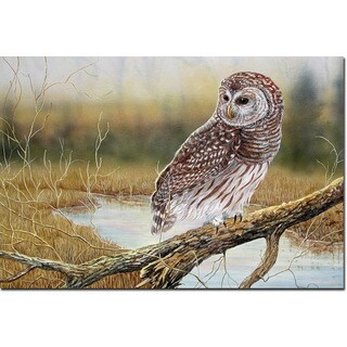 WGI Gallery 'Early Hunter' Owl Wood-print Wall Art (More options available)