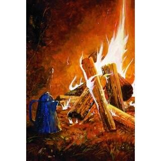 WGI Gallery Evening Campfire Multicolored Wood Wall Art